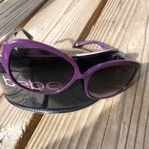 5a690d48973 Bebe Purple Crystal Sunglasses   Case!